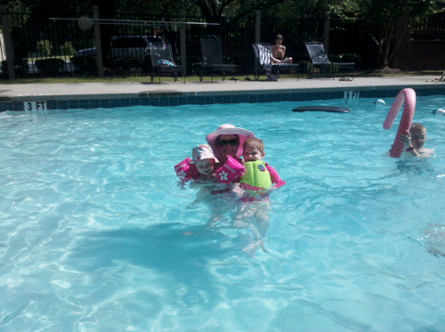 Mommy and Me at the pool