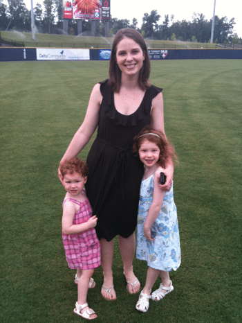 Me and the girls at the Gwinnett Braves