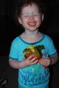 eating the mango