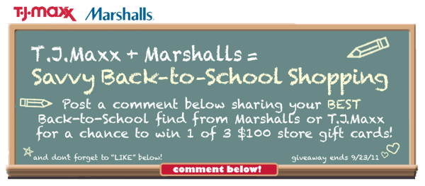 TJ Maxx and Marshalls Giveaway
