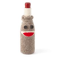 sock monkey wine cozy