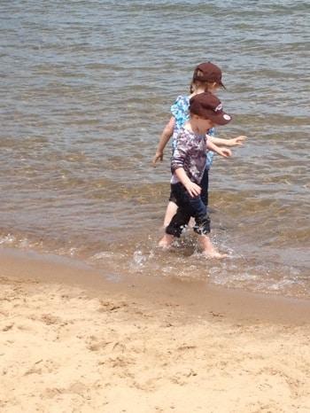 a dip in lake michigan.jpg