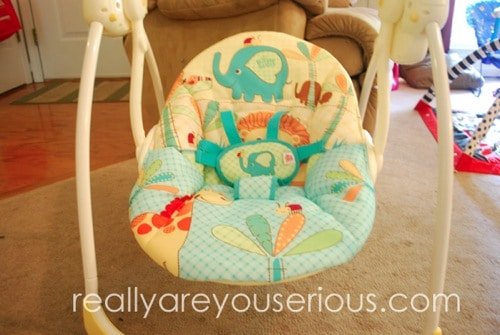 bright starts portible swing giveaway and review