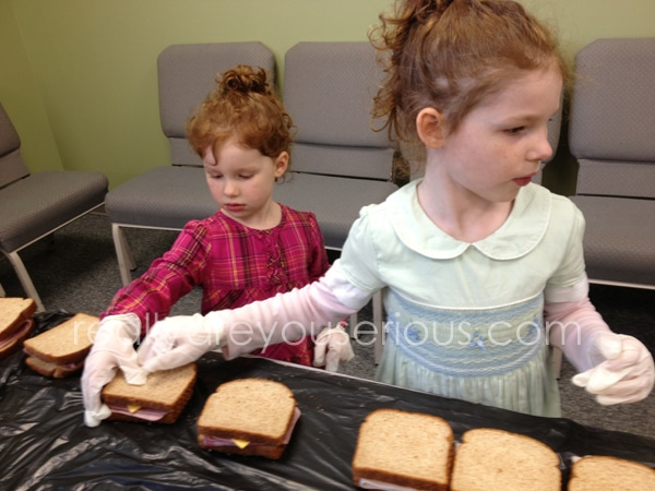 Making sandwiches for MUST