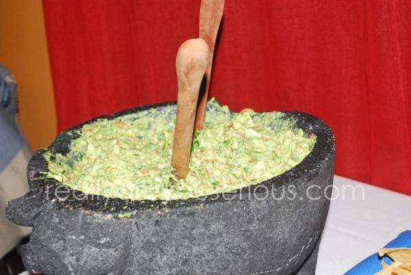 big bowl of guacamole