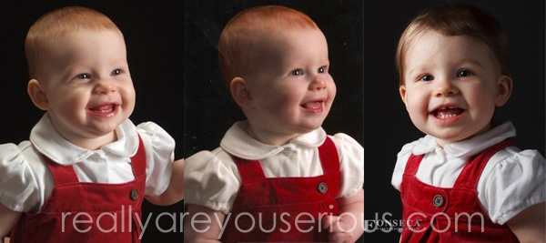All three girls at one year 1