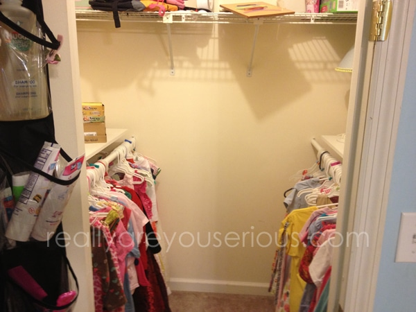 Our home closet shelving project