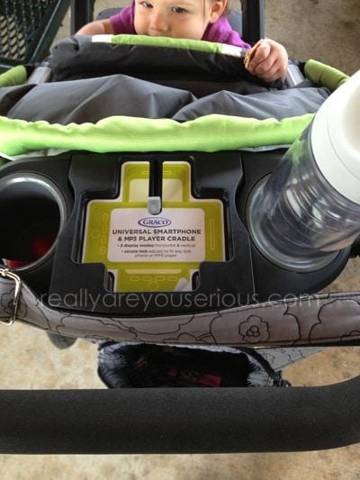 graco jogging stroller console