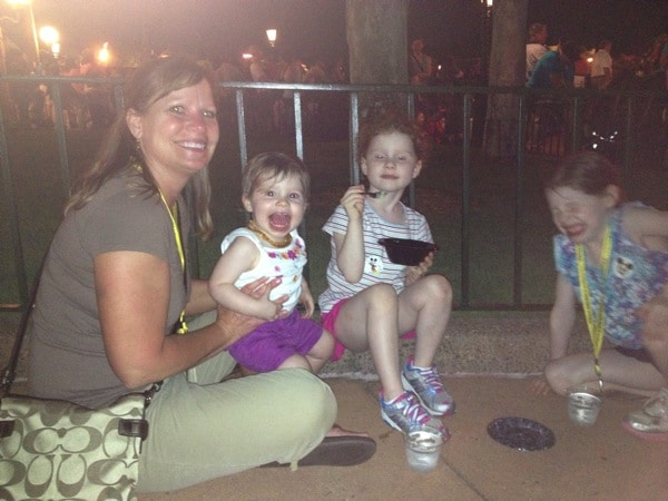 Ending with fireworks and dessert at Epcot