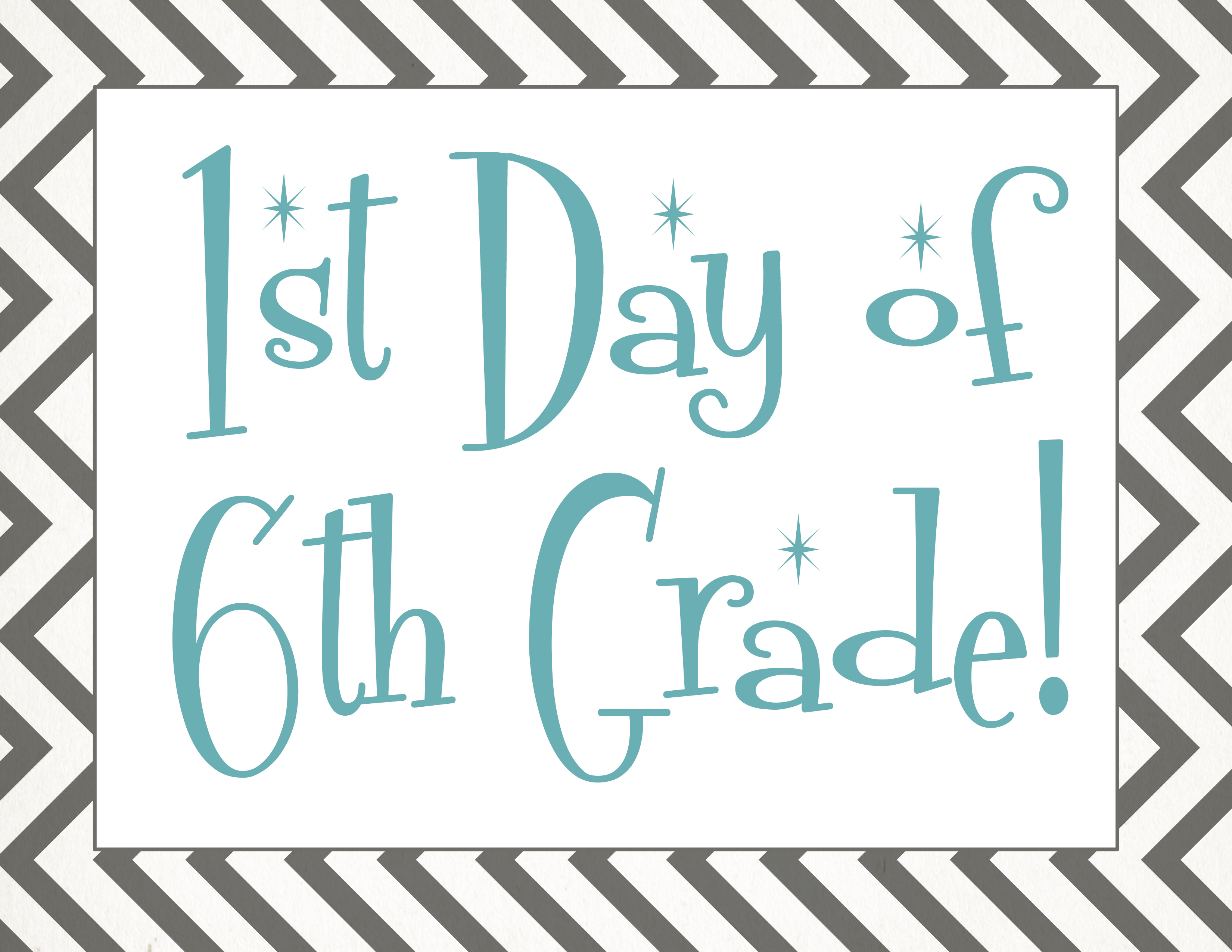 School Worksheets For 6th Graders : Back to school free first day of printables
