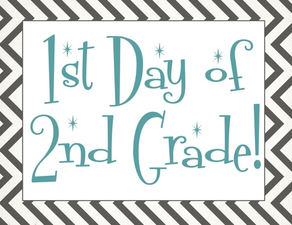 Free back to school printable | First day of 2nd grade free printable