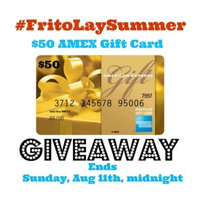 $50 AMEX Gift Card From Frito-Lay Giveaway #FritoLaySummer