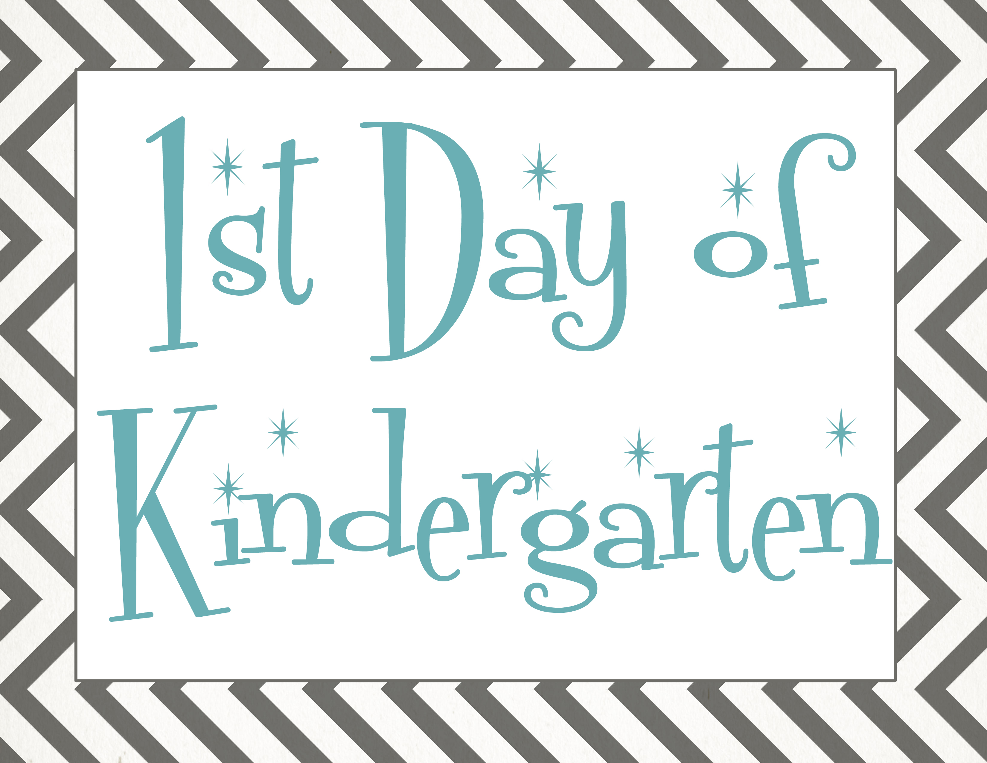 This is a graphic of Fabulous First Day of Preschool Printable