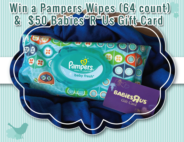 Pampers + Babies R Us $50 Giveaway ends 9/26/2013