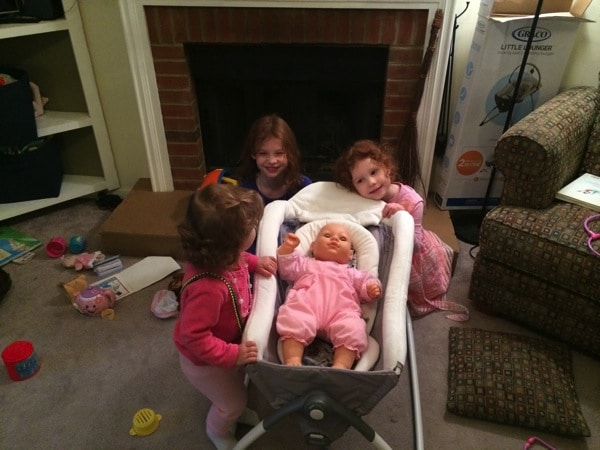 Baby Lydia rides in the Graco Little Lounger Review