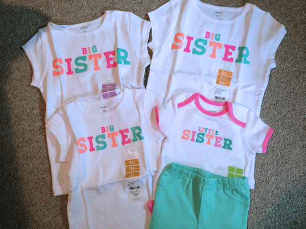 Matchy matchy sister shirts