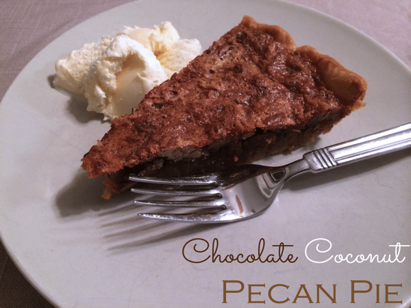 Chocoalte coconut pecan pie