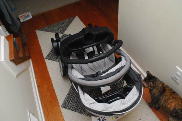 Graco Ready2Grow Stroller review...folded up