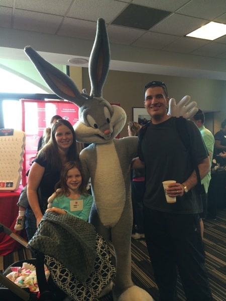 The family with Bugs Bunny