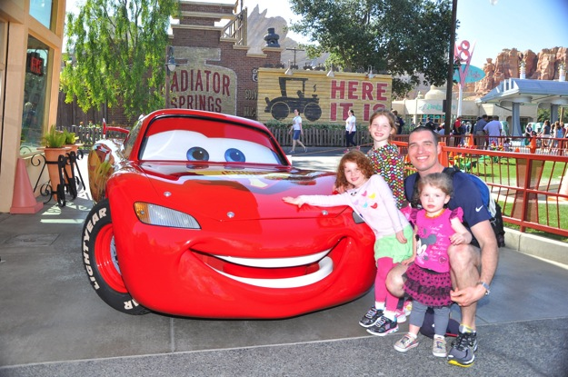 Daddy solo at Cars Land Disney