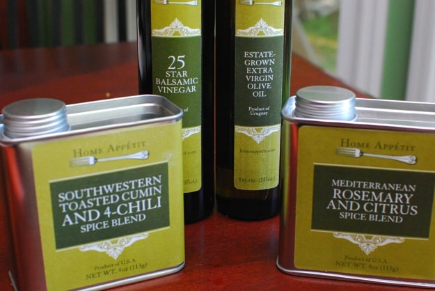 Home Appetit naturally gluten free, nongmo and all natural spice blends, EVOO, aged balsamics