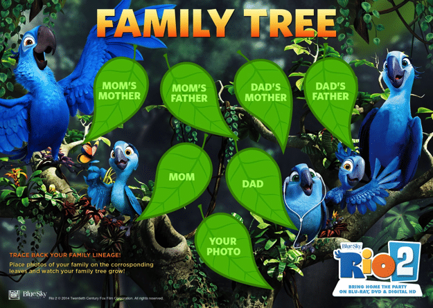 Rio 2 Inspired Family Tree Activity