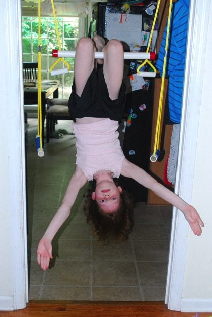 hanging upsidedown