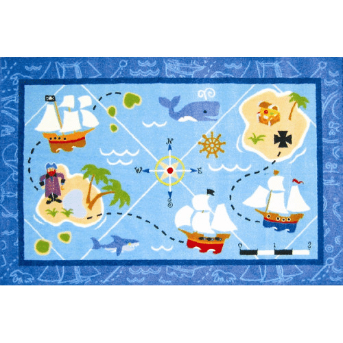pirate theme kids room rug