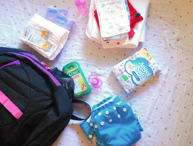 Angel Soft in diaper bag