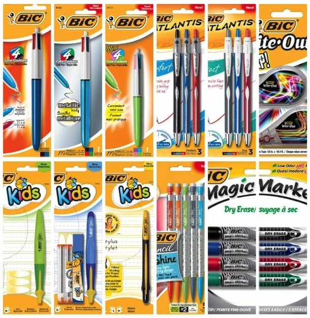 Bic back to school supplies