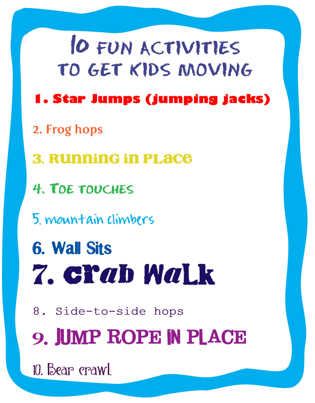 10 activites to get kids moving