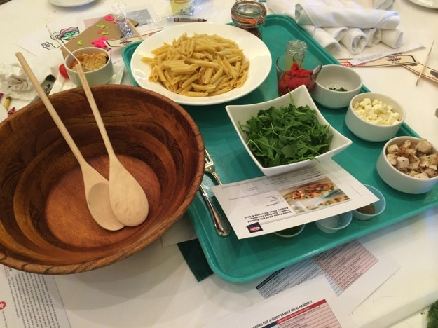 Pasta meal: Kids in the kitchen