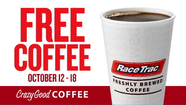 Free Coffee at RaceTrac