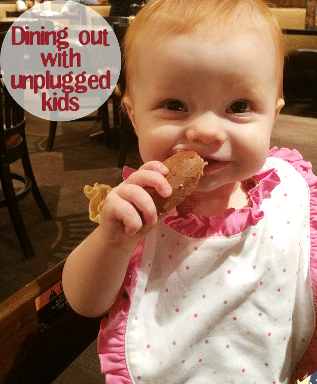 Tips for Dining Out with Unplugged Kids