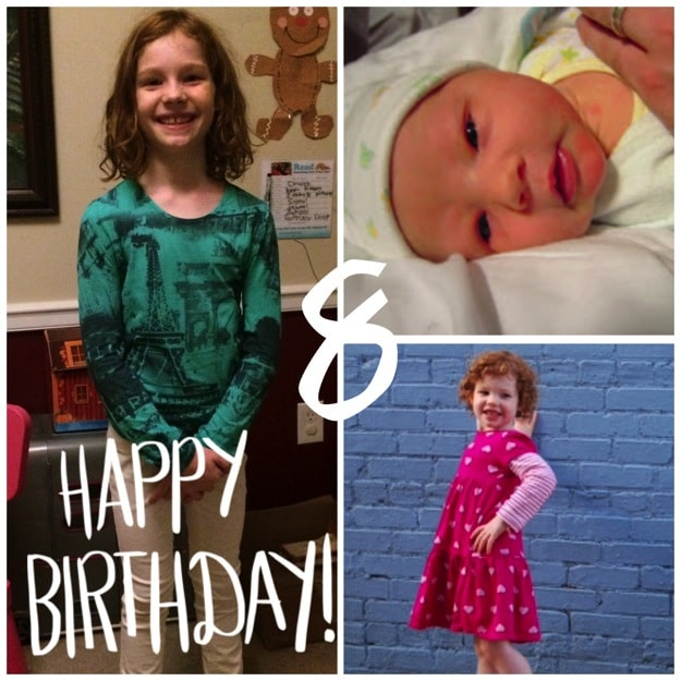 8th birthday collage