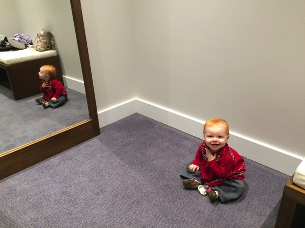 spacious fitting rooms