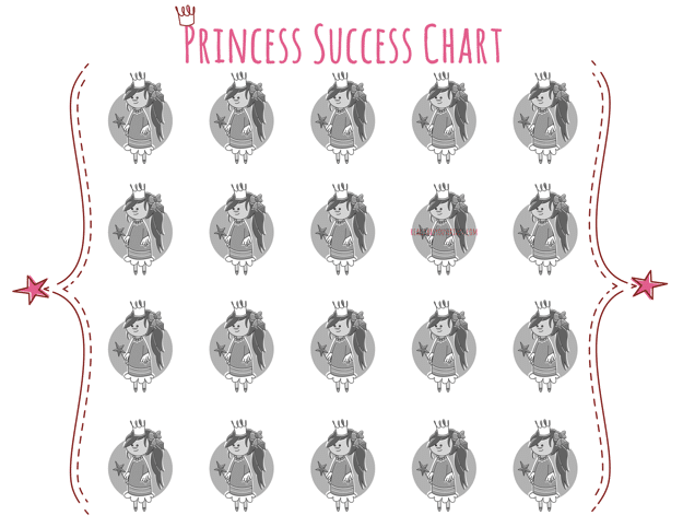Princess Success {Potty} Chart Free Printable