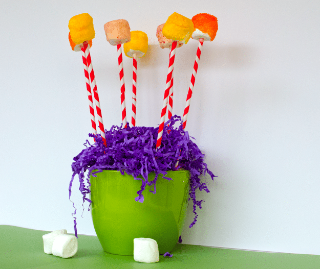 Truffula Tree Marshmallow Pops