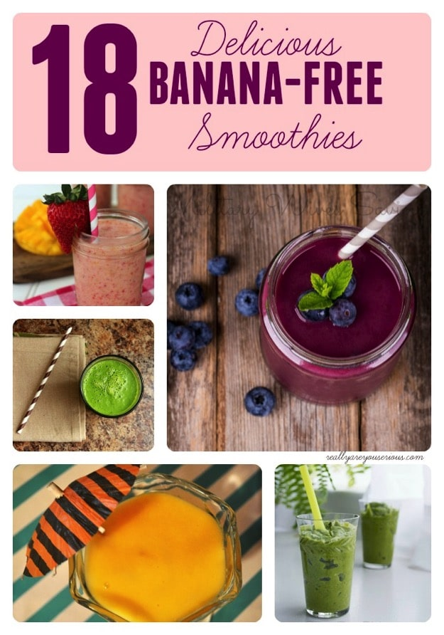 18 banana free smoothies
