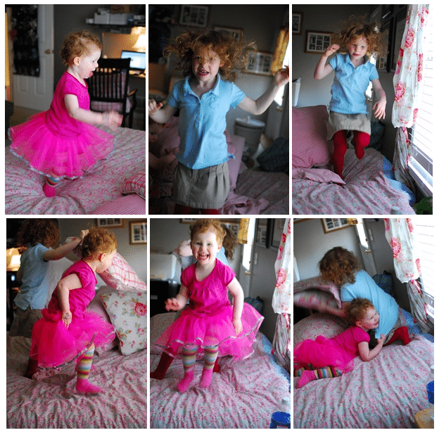 How to Keep Your Kids Active and Moving in the Winter   Jumping on the bed