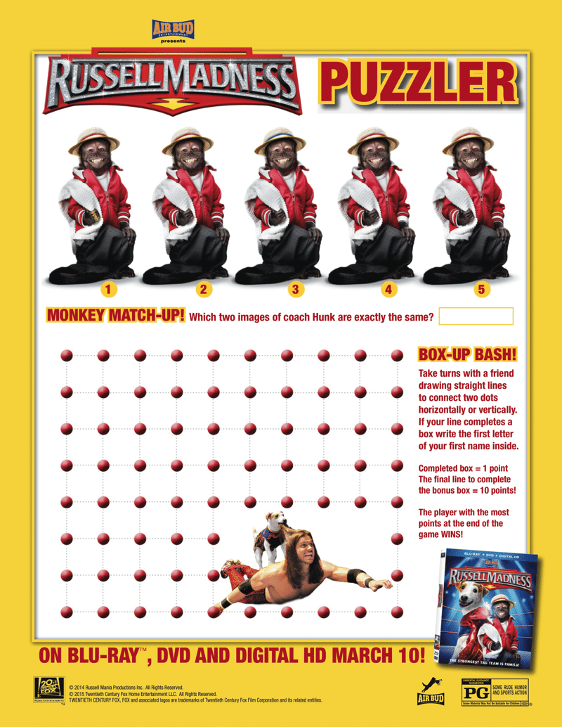 Russell Madness Puzzler Free Printable