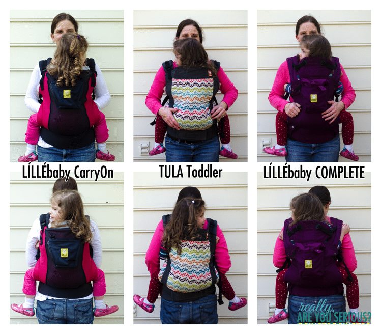 Lillebaby Complete versus Lillebaby CarryOn versus Tula Toddler