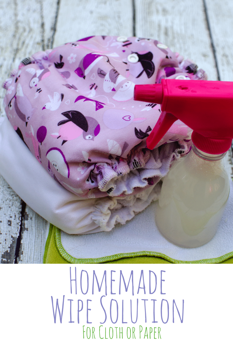 homemade diy wipe solution for cloth or paper towels