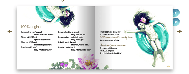 Dove Hair's Love Your Curls Custom Book