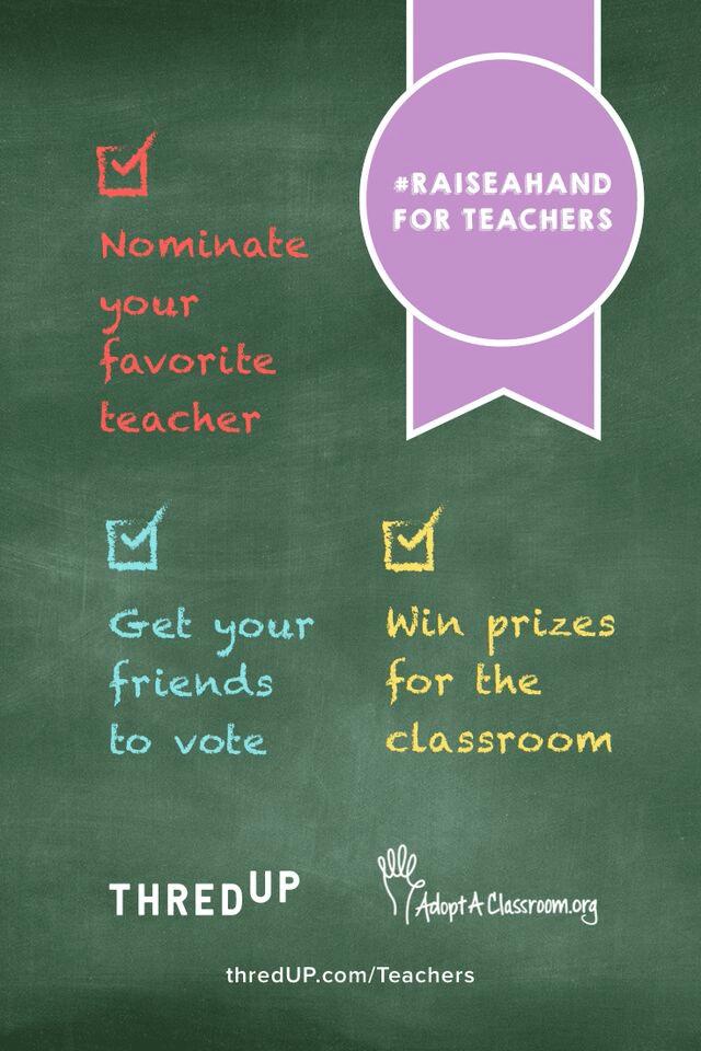 Raise A Hand for Teachers