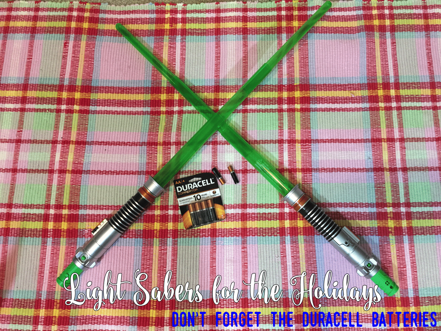 Light Sabers + Duracell ($100 Toys R Us giftcard and AAA batteries giveaway)