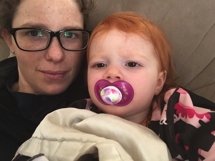 snuggles with B | Mommy and Me Monday