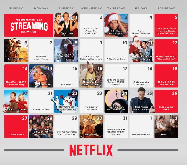 Netflix Holiday Streaming