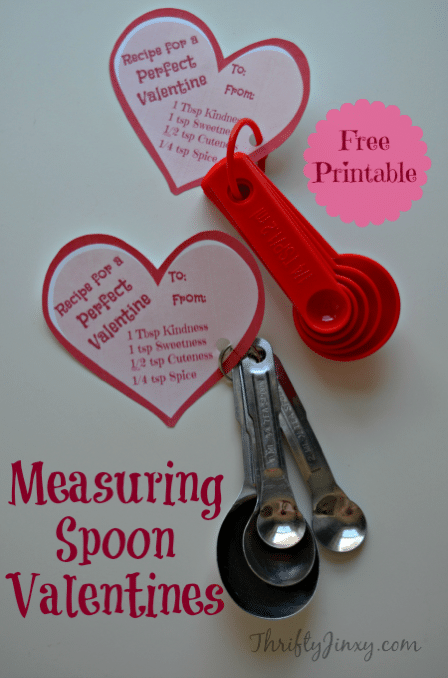 Measuring Spoons Valentines