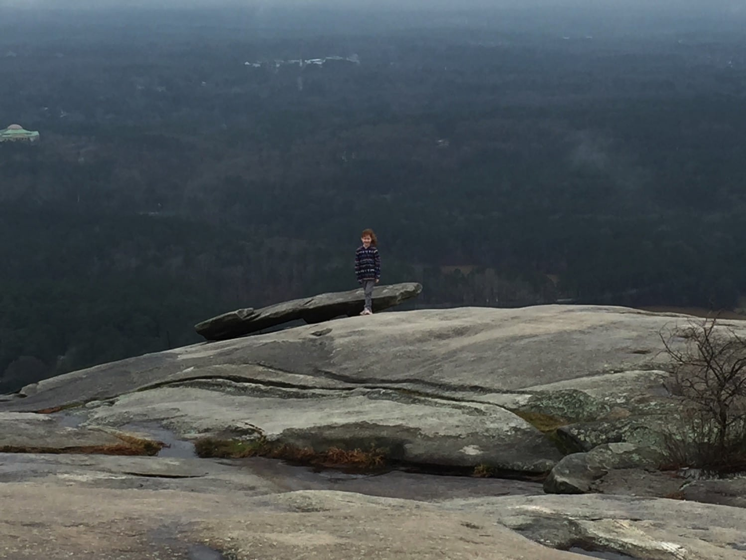 stone mountain in the winter without the snow